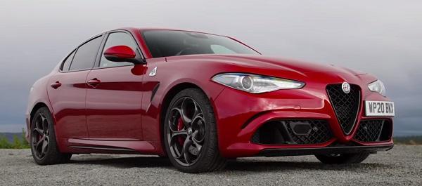 Alfa Romeo Giulia Quadrifoglio 2020-2021.